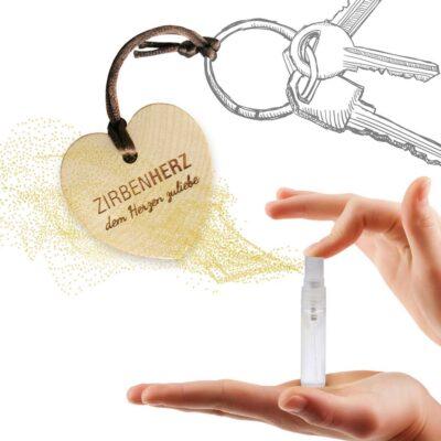 Kleine Geschenke aus Zirbe Schlüsselanhänger