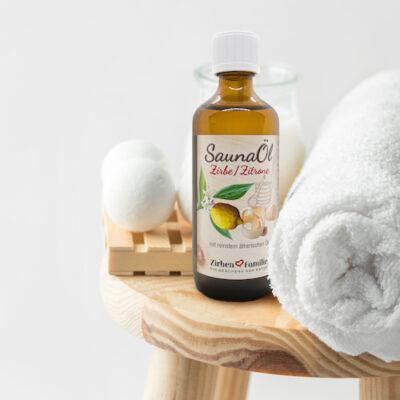 SaunaÖl von ZirbenFamilie mit Duft aus Zirbe